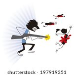 shooting spree | Shutterstock .eps vector #197919251