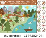 vector camping searching game... | Shutterstock .eps vector #1979202404