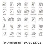 vegan milk and alternative... | Shutterstock .eps vector #1979212721