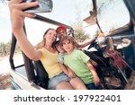 woman taking photo of herself...   Shutterstock . vector #197922401