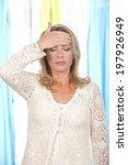 woman suffers from headache | Shutterstock . vector #197926949