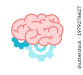 color human brain with gears...   Shutterstock .eps vector #1979276627