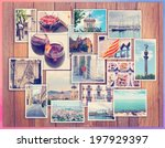 barcelona collage  a few photos ... | Shutterstock . vector #197929397