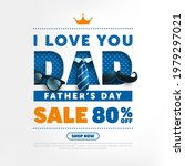 father's day sale poster or... | Shutterstock .eps vector #1979297021