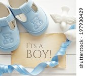 baby shower decoration   it is... | Shutterstock . vector #197930429
