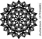 black floral mandala art... | Shutterstock .eps vector #1979346881