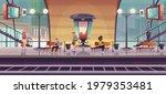 people waiting train on indoor... | Shutterstock .eps vector #1979353481