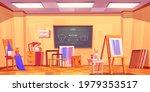 art classroom  empty artist... | Shutterstock .eps vector #1979353517