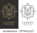 art deco letter w logo in two...   Shutterstock .eps vector #1979422127