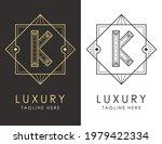 art deco letter k logo in two...   Shutterstock .eps vector #1979422334