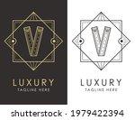 art deco letter v logo in two...   Shutterstock .eps vector #1979422394