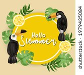 tropical summer sale banner ... | Shutterstock .eps vector #1979435084