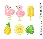 watercolor tropical summer... | Shutterstock .eps vector #1979435537