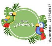 tropical summer sale banner in... | Shutterstock .eps vector #1979435687