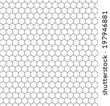 Seamless pattern of the hexagonal net | Shutterstock vector #197946881