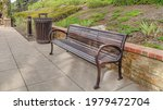 Pano Bench On Park Pathway In...