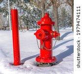 Square Vibrant Red Fire Hydrant ...