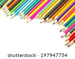 assortment of coloured pencils ... | Shutterstock . vector #197947754