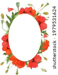 Romantic Oval Flower Frame Made ...