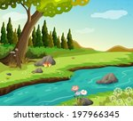 Illustration Of A River At The...