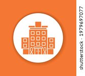 hotel color glyph icon.... | Shutterstock .eps vector #1979697077