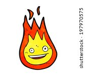 cartoon friendly fireball | Shutterstock .eps vector #197970575
