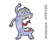 cartoon crazy monster | Shutterstock .eps vector #197971301