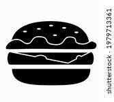 burger cheeseburger icon... | Shutterstock .eps vector #1979713361