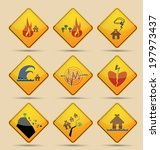 disaster signs | Shutterstock .eps vector #197973437