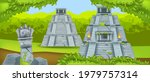 ancient maya pyramid  vector... | Shutterstock .eps vector #1979757314