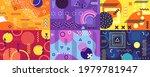 memphis background. funky...   Shutterstock .eps vector #1979781947