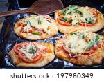 mini focaccia with tomatoes ... | Shutterstock . vector #197980349