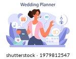 wedding planner concept.... | Shutterstock .eps vector #1979812547