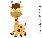 giraffe vector illustration | Shutterstock .eps vector #197981807
