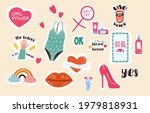 set of fashion patches.... | Shutterstock .eps vector #1979818931