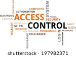 a word cloud of access control... | Shutterstock .eps vector #197982371
