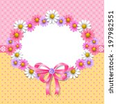 floral background with daisy in ... | Shutterstock .eps vector #197982551