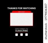 editable thumbnail for video.... | Shutterstock .eps vector #1979836307