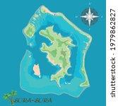 bora bora island. realistic... | Shutterstock .eps vector #1979862827