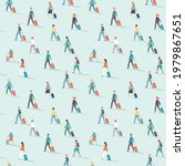 travelers seamless pattern....   Shutterstock .eps vector #1979867651