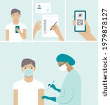 flat vector set for vaccination ...   Shutterstock .eps vector #1979878127