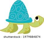 cute sea turtle cartoon. vector ...   Shutterstock .eps vector #1979884874