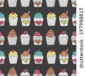 Muffin Seamless Pattern....