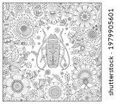 zentangle stylized cartoon ... | Shutterstock .eps vector #1979905601
