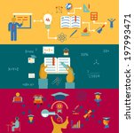 education and learning banners... | Shutterstock . vector #197993471