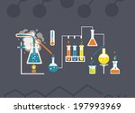 chemistry infographics template ... | Shutterstock . vector #197993969