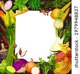 vegetable salad recipe blank...   Shutterstock .eps vector #1979948837