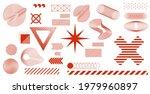 minimalist graphic shapes set.... | Shutterstock .eps vector #1979960897