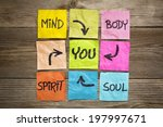 mind  body  spirit  soul and... | Shutterstock . vector #197997671
