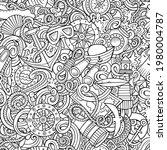 cartoon doodles nautical... | Shutterstock .eps vector #1980004787